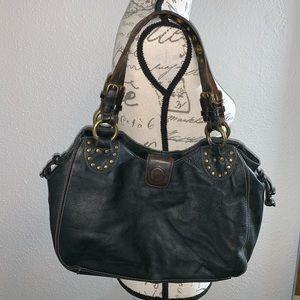 Fossil  Black Pebble Leather Shoulder Bag  75082
